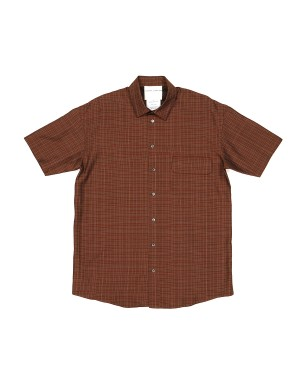 Brick Checked Modal Short Sleeves Shirt