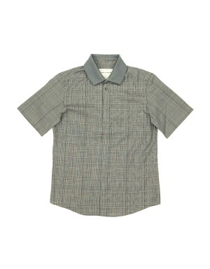 Grey Checked Modal Polo Shirt