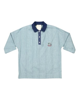 Blue Soft Cotton Polo Shirt