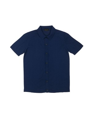 Blue Cotton Knit Shirt