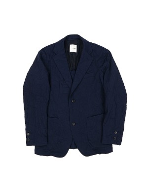 Navy Crinkled Jacket