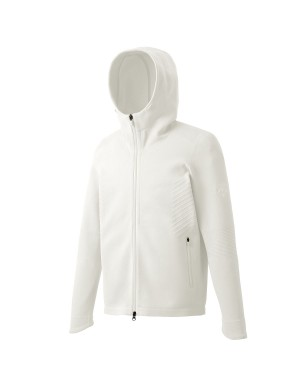 White Fusionknit Hoodie Jacket