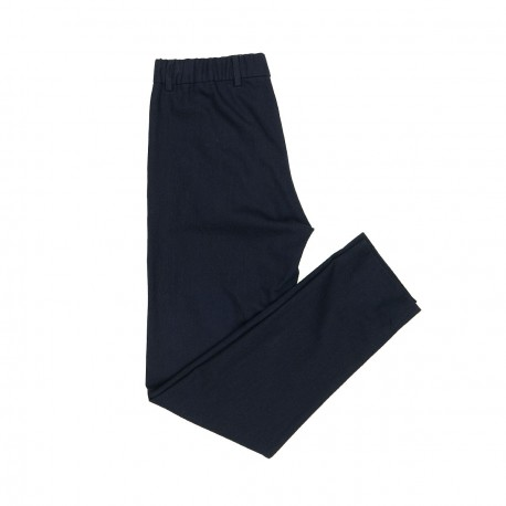 Night Blue Cotton Trousers