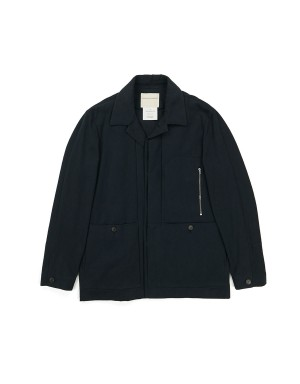 Blue Brushed Cotton Jacket