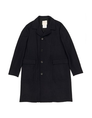 Night Blue Wool Coat