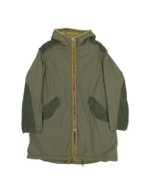 Khaki Parka with French Terry Lining