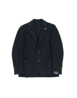 Navy Supersoft Wool Blend Jacket