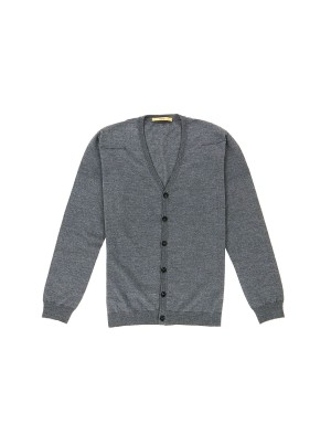 Grey Merino Wool Cardigan