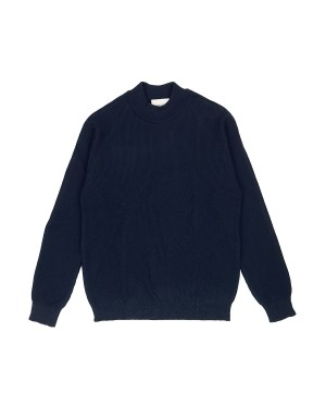 Navy and Black Mock-neck Sweater