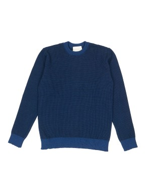 Royal Blue Waffle Knit Sweater