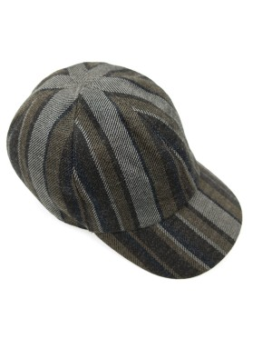 Brown Striped Cap
