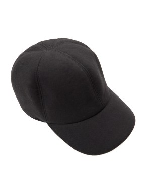 Black Wool and Neoprene Cap