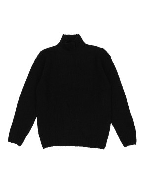 Black Wool & Cashmere Blend Sweater