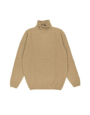 Camel Wool & Cashmere Blend Sweater