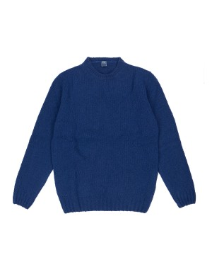 Blue Wool & Cashmere-Blend Sweater