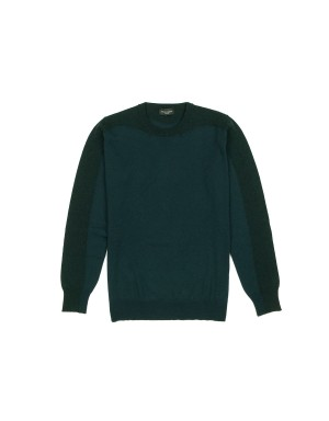 Green Tone on Tone Merinos Sweater