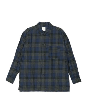 Navy and Grey Checked Cotton Shirt
