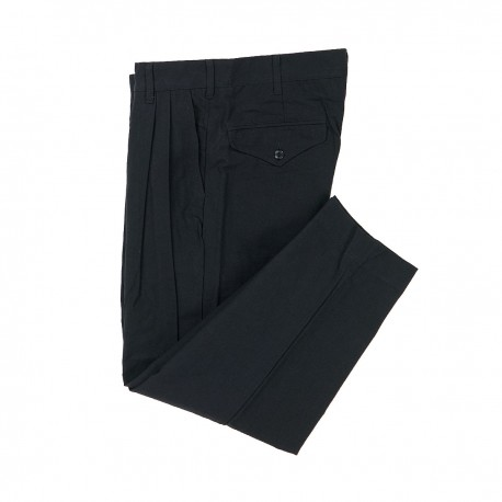 Black Cotton and Japanese Paper Trousers