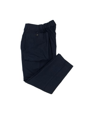 Navy Cargo Cotton Trousers