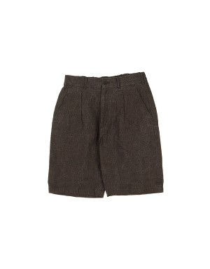 Brown Linen Shorts
