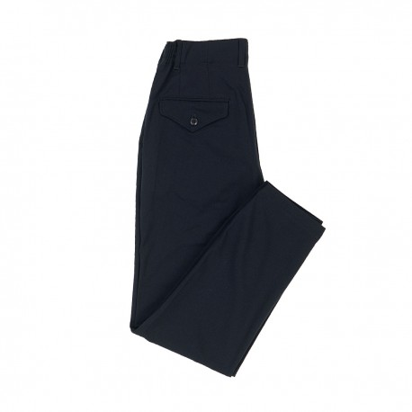 Navy Rayon-Blend Trousers
