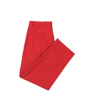Red Large Lightweight Wool Trousers