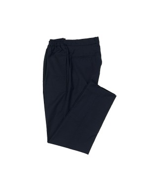Navy Light Wool Fabric Trousers