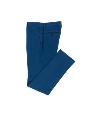 Blue Linen and Cotton Trousers